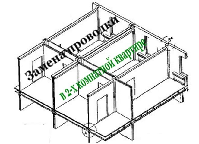 Замена проводки в 2-х комнатной квартире панельного дома