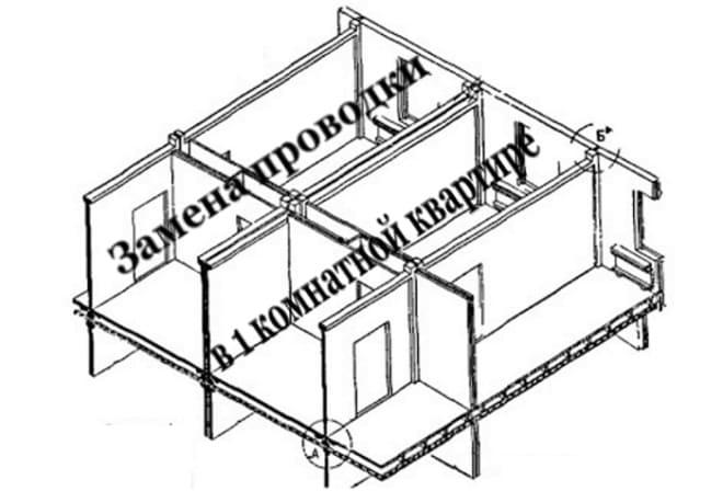 Замена проводки в однокомнатная квартире панельного дома